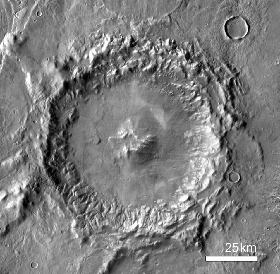 THEMIS IR 512 pixel/degree mosaic of crater Greg