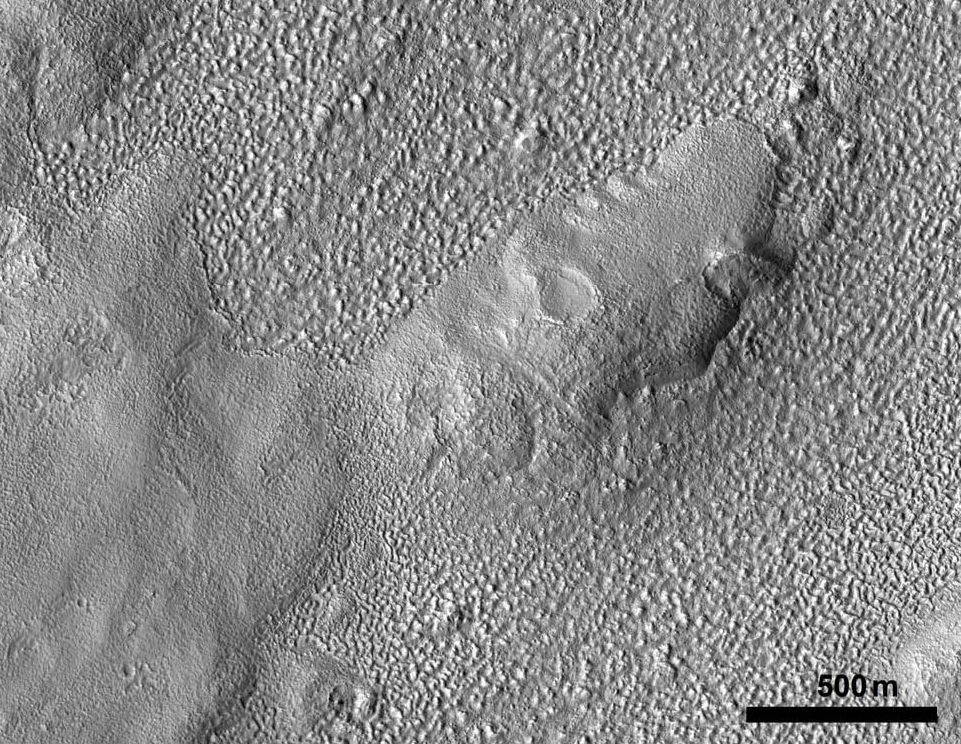 Figure 7.  Examples of surfaces in crater Greg