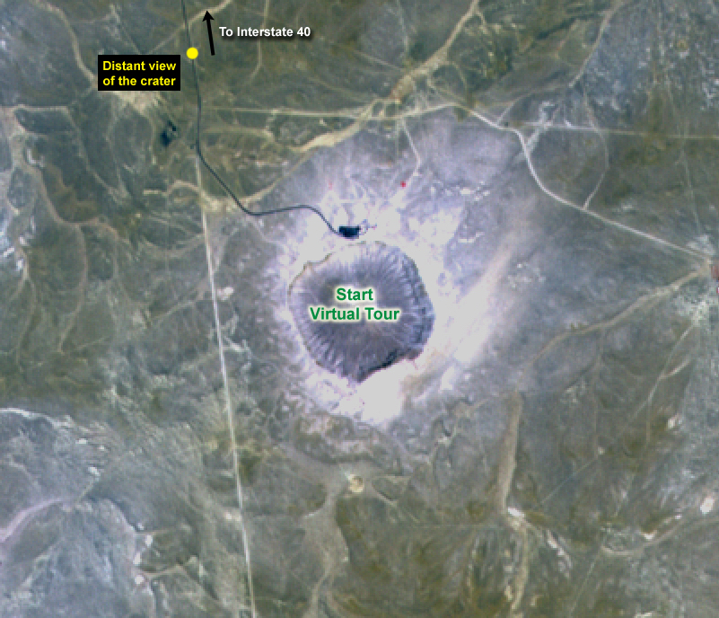 ASTER Satellite image of Barringer impact Crater