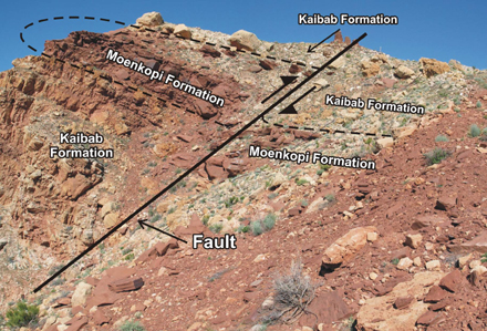 Tear fault in the crater rim
