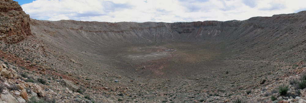 Panoramic photo from partway down the Caretaker Trail