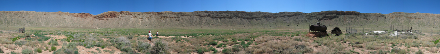 360 degree panoramic photo from the floor of Barringer Crater