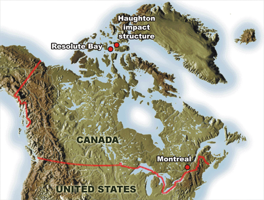 Canada Location Map