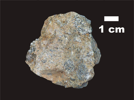 Example of an impact breccia in our Impact Rock Kits