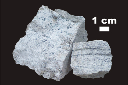 Example of shocked gneiss in our Impact Rock Kits