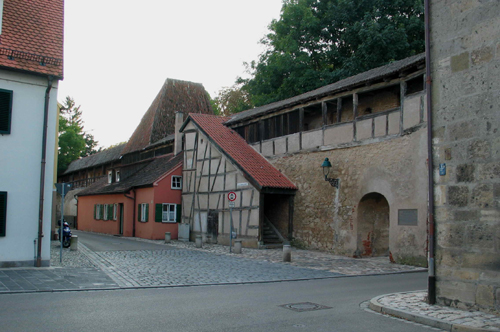 Medieval fortification wall around Nördlingen