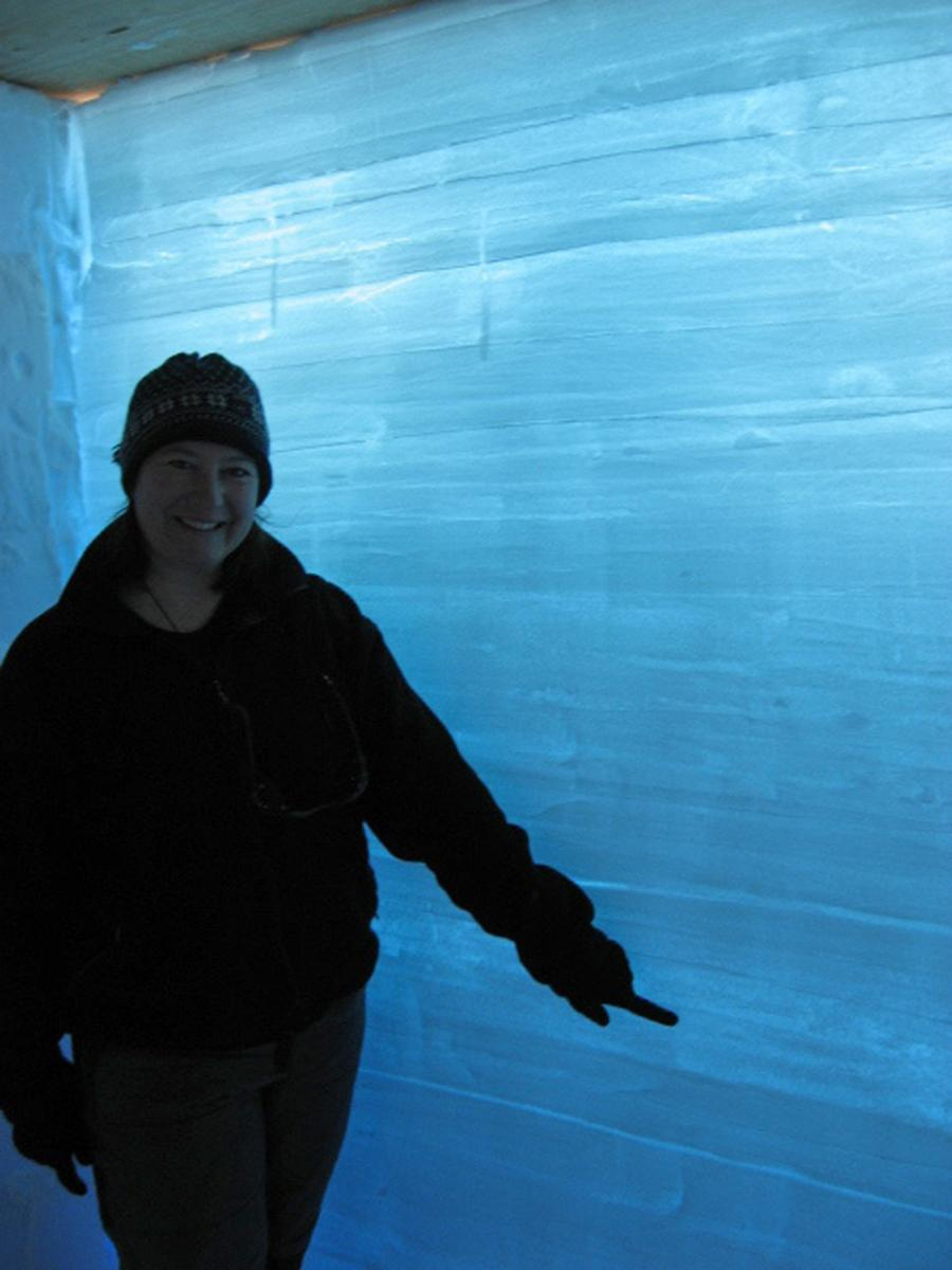 Maria Banks, Snow Pit, West Antarctic Ice Sheet, Antarctica