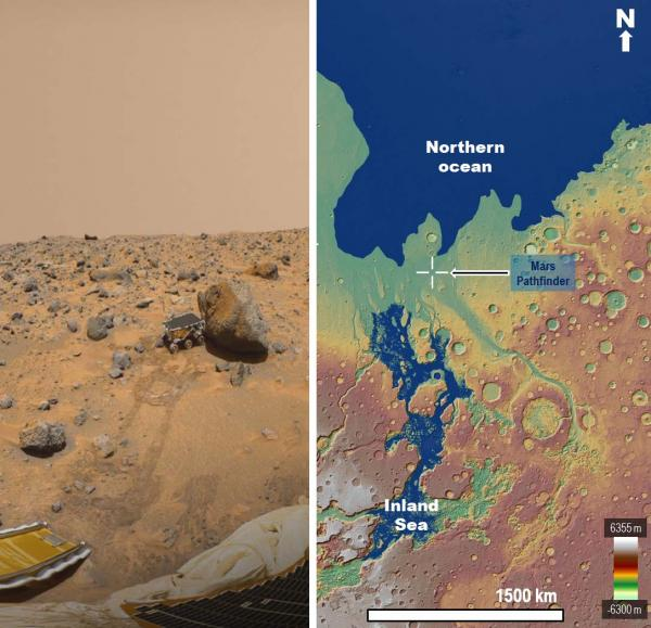inland mars sea images