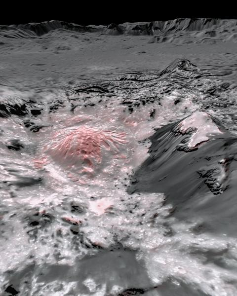 Occator Crater on Ceres up close
