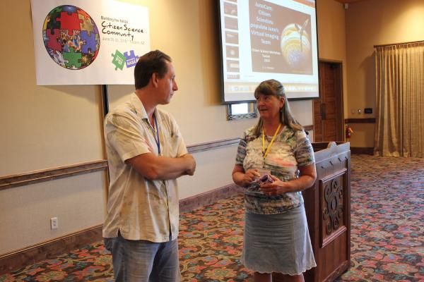paul and candy at citizen science conference