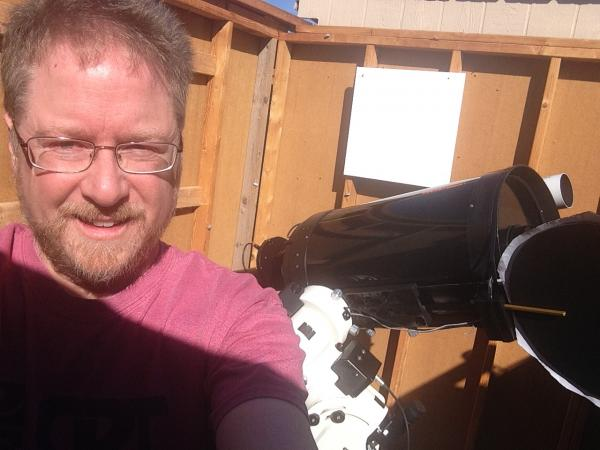 jeff with new telescope