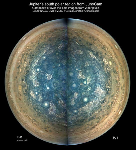 Cirkumpolare storme om Jupiters poler