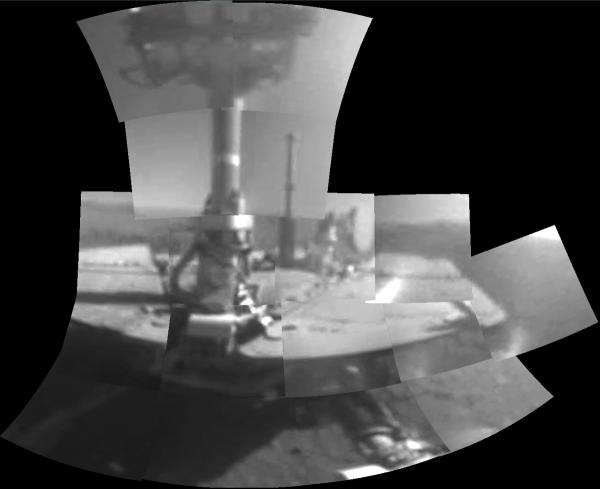 opportunity rover selfie