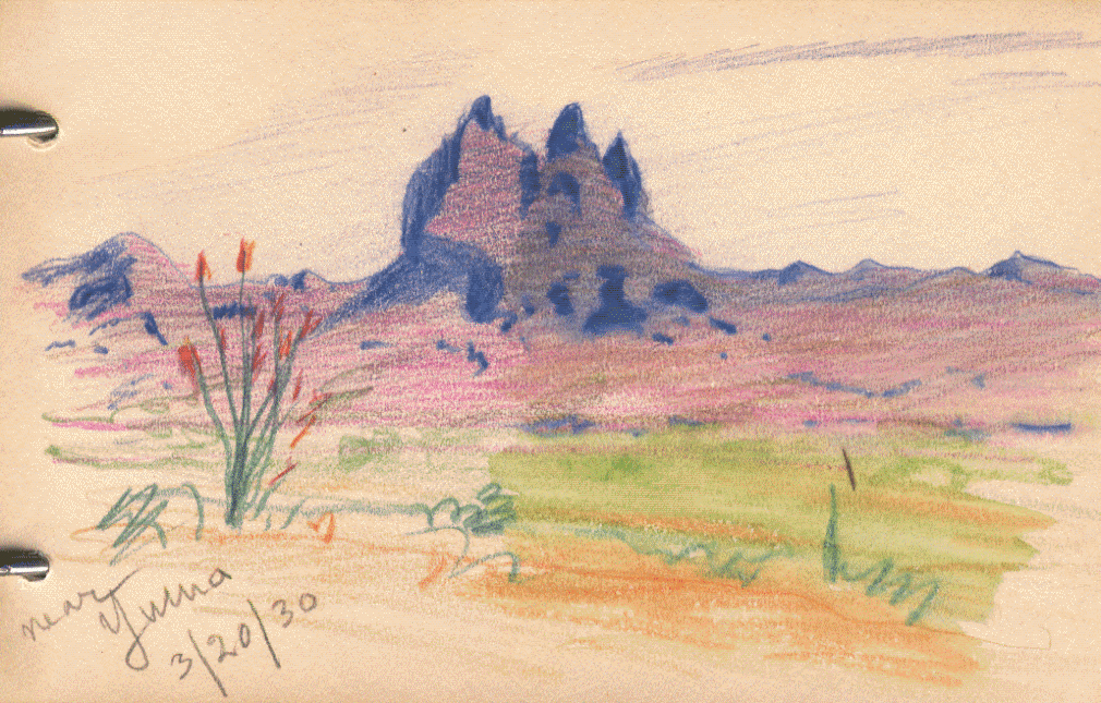 A hartmann watercolor and color pencil sketch gallery planetary science institute