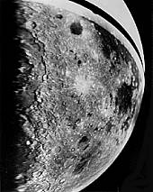 Discover photo of the Orientale multi-ring impact basin on the moon.