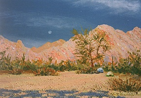 469 - Morning in camp, Tinajas Altas range, southwest, Arizona