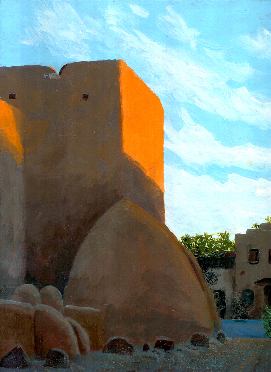649 -- New Mexico: Dawn View Of The Church At Taos.