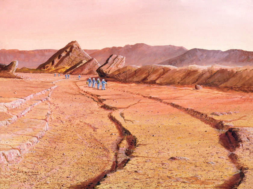 092 --MARS Explorers in dry channel
