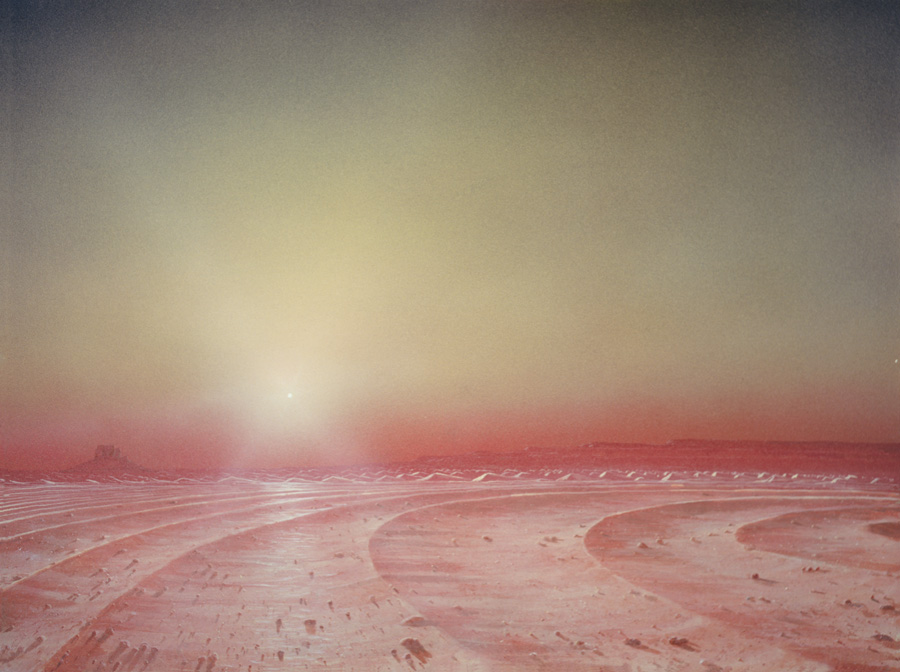 141 -- MARS polar sunset