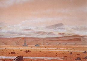 211 - Drilling station in the Martian polar terrain