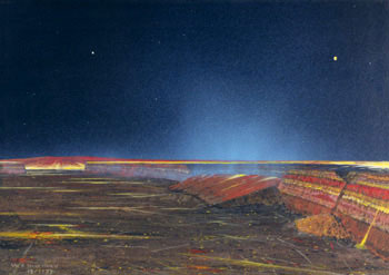 112 - December 1979, Caldera on Io (Emitting Blue-Scattering Gas)