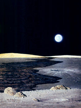 129 - June 1980, Basalt Flow on Moon