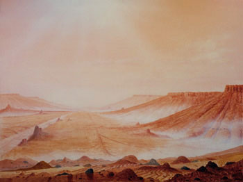 133 - August 20-21, 1980, Morning in Martian Canyonlands