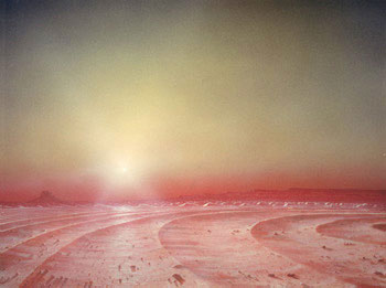 141 - December 1980, Sunset in Mars' Polar Dune Fields