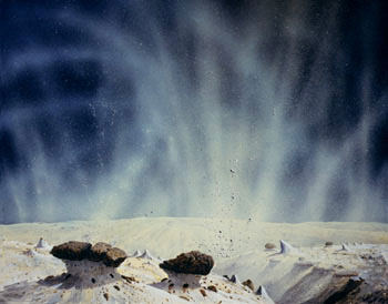 145 - January 1981, Surface of a Comet, Jets Subliming from Ice