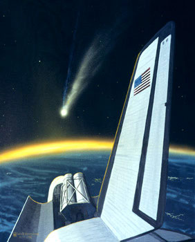 172 - April 1982, Observing Halley's Comet from the Space Shuttle