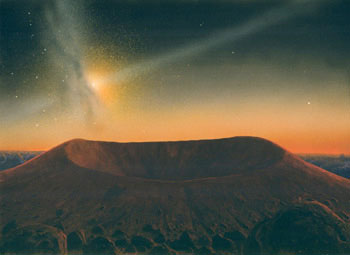 254 - October 1986, Jetting Galaxy Over a Cinder Cone