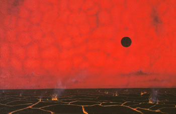 256 - November 1986, Red Giant Filling Sky Over a Molten Planet
