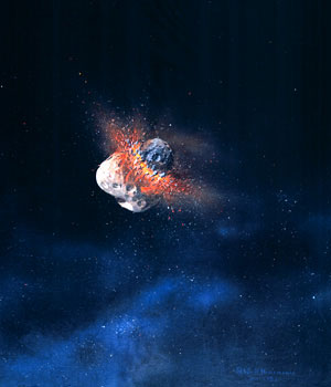 270 - September 1987, Asteroid Collision