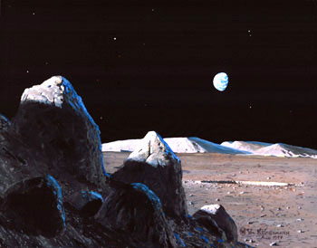 489 - August 1997, Late Afternoon on the Moon
