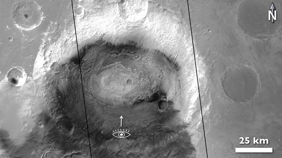 Crommelin crater mosaic location