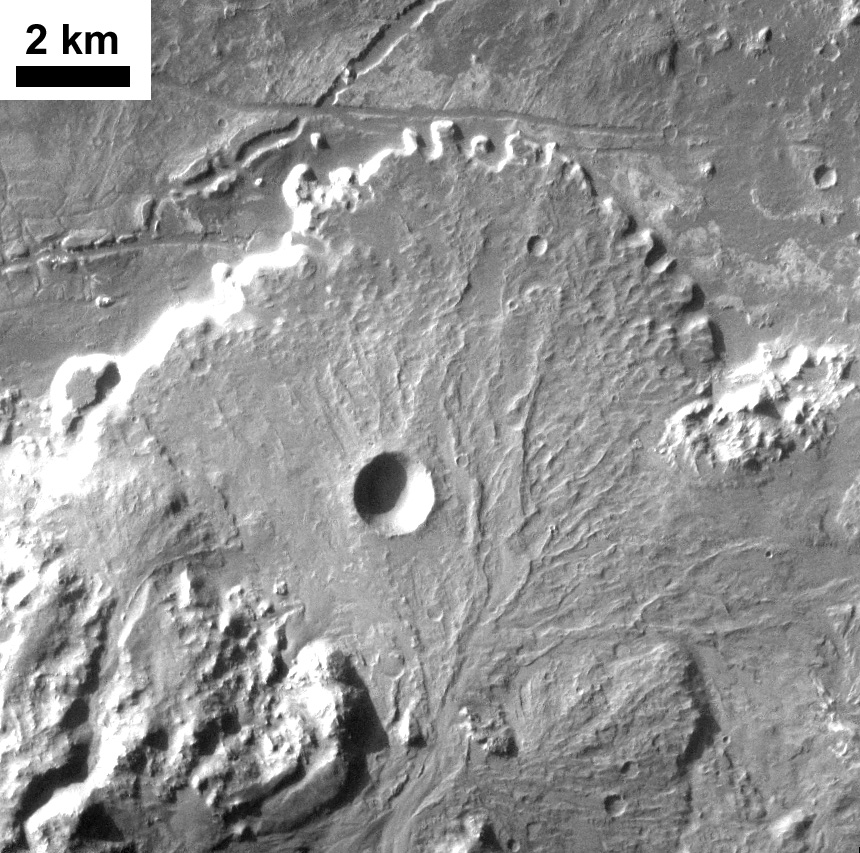 Alluvial fan, Holden Crater, Mars