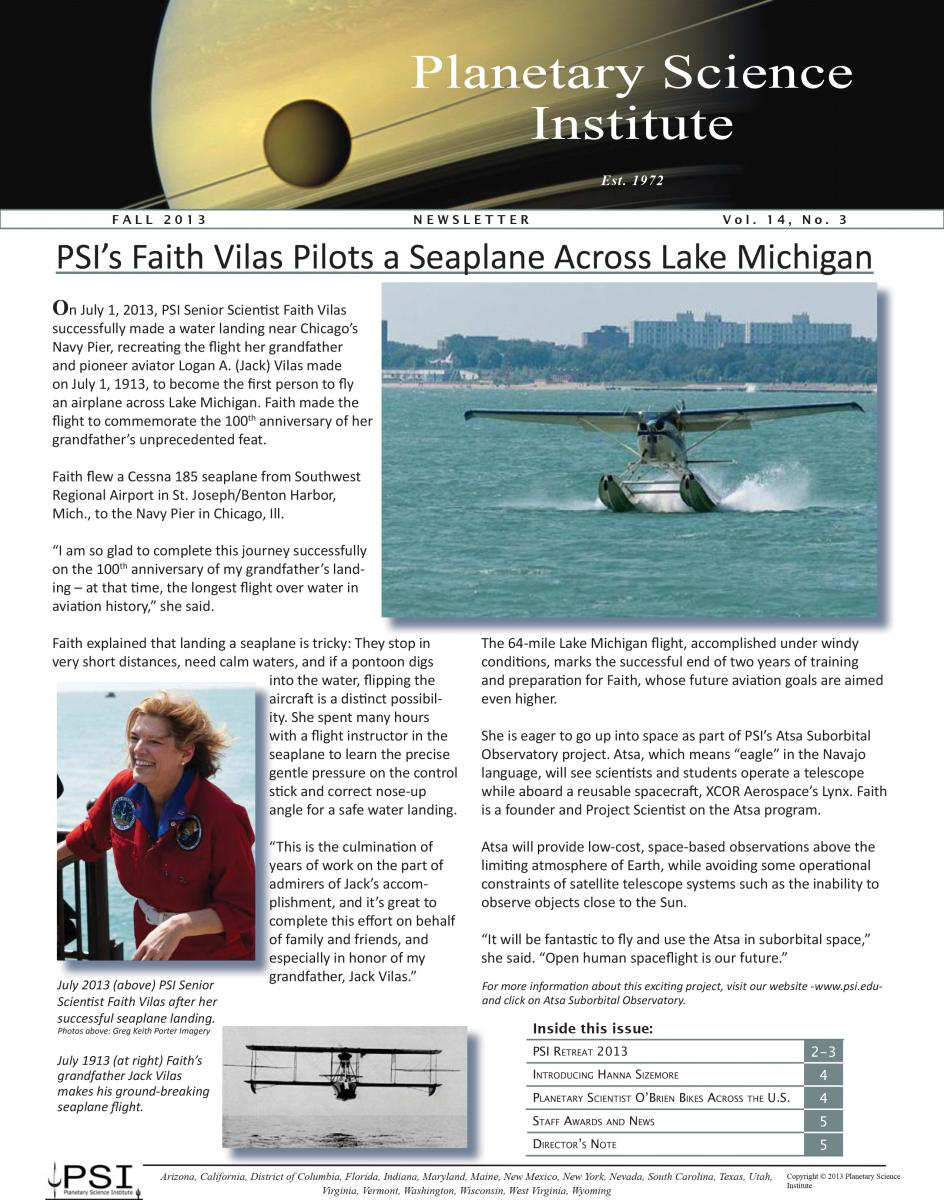 PSI Newsletter Fall 2013